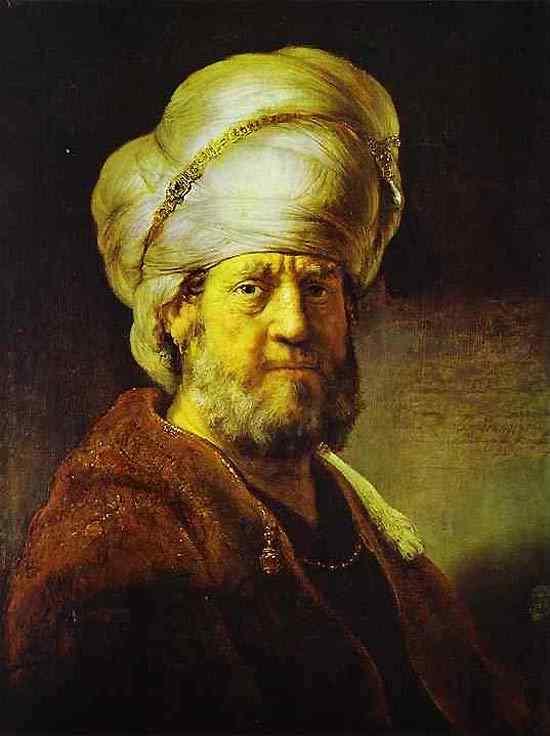 Harmensz van Rijn Rembrandt - Retrato de um homem em roupas orientais