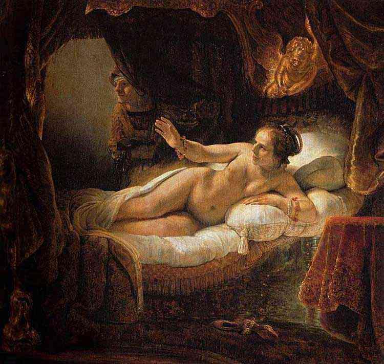 Harmensz van Rijn Rembrandt - Danae