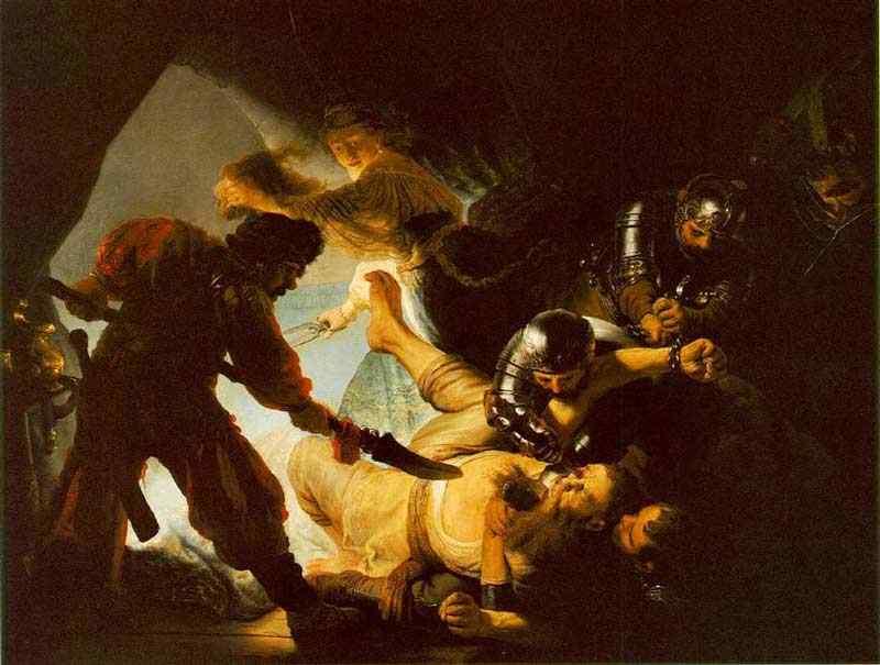 Harmensz van Rijn Rembrandt - Sansão cegado pelos filisteus