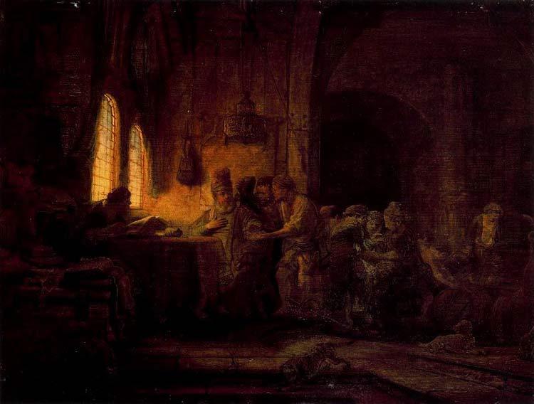 Harmensz van Rijn Rembrandt - A parábola dos trabalhadores da vinha