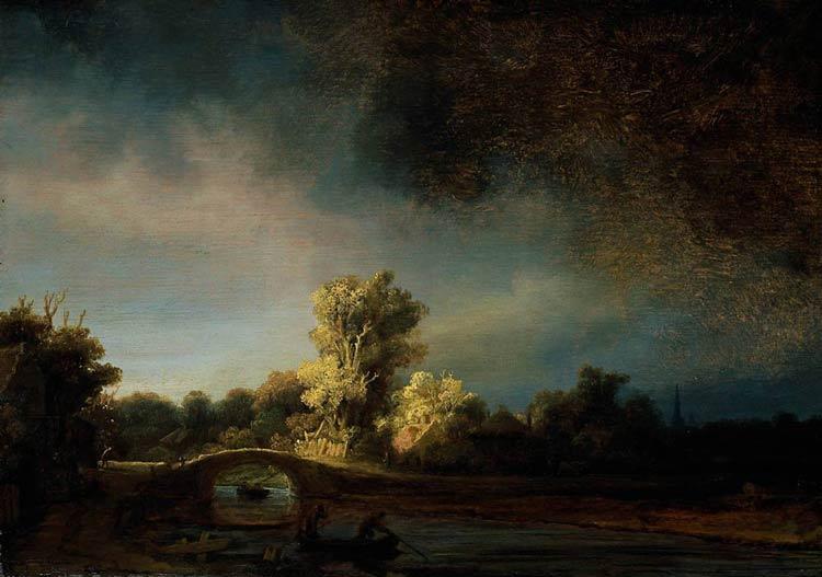 Harmensz van Rijn Rembrandt - A ponte de pedra