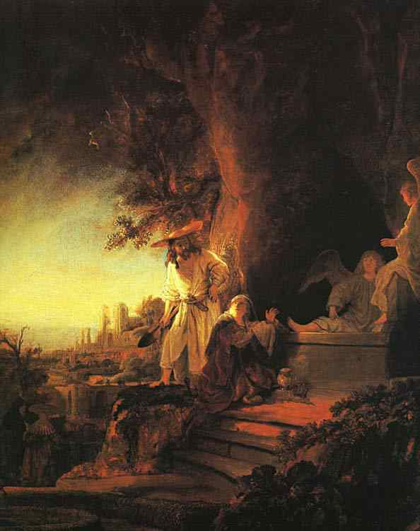 Harmensz van Rijn Rembrandt - Cristo ressuscitado aparecendo para Maria Madalena