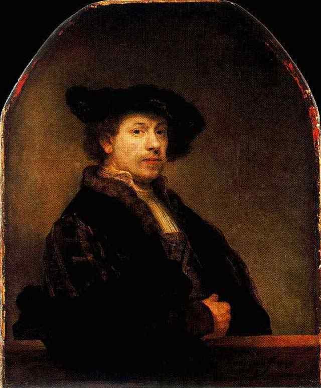 Harmensz van Rijn Rembrandt - Auto-retrato com 34 anos