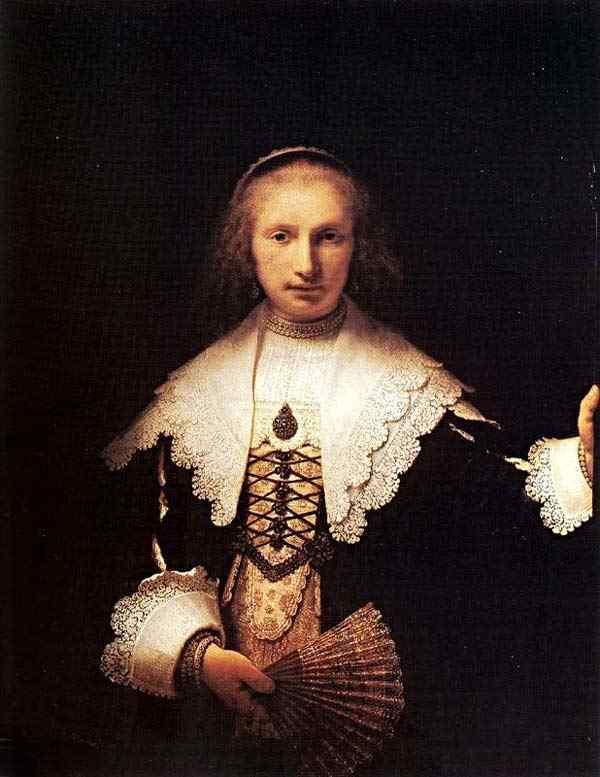 Harmensz van Rijn Rembrandt - Retrato de Agatha Bas