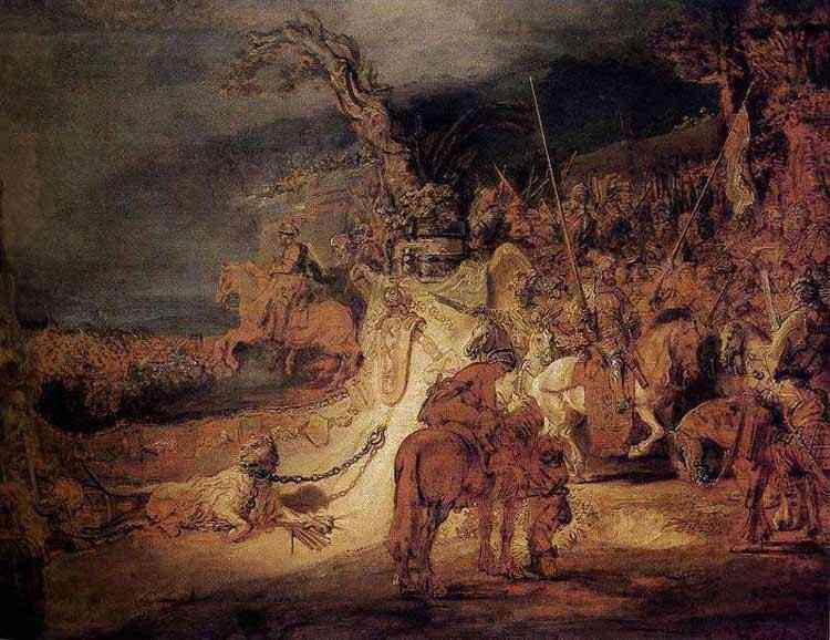 "Harmensz van Rijn Rembrandt - A concórdia do Estado ( também conhecida como ""Alegoria da Concórdia"")"