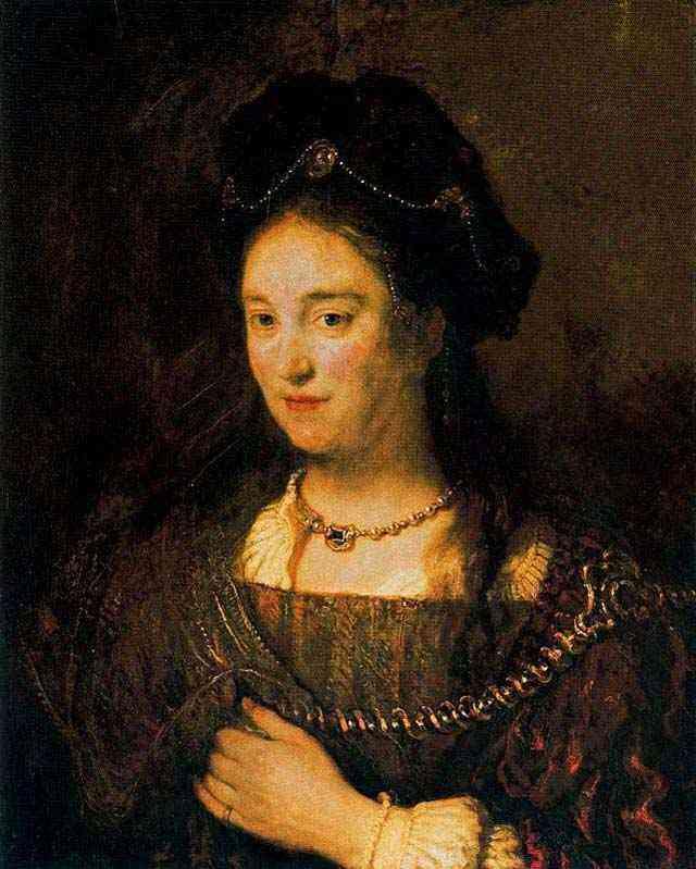 Harmensz van Rijn Rembrandt - A esposa do artista, Saskia