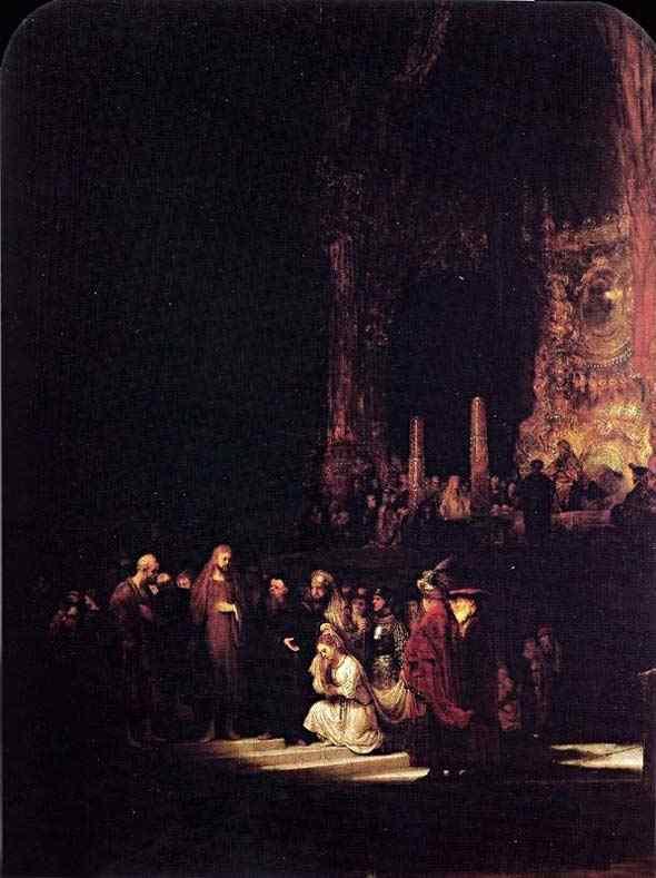 Harmensz van Rijn Rembrandt - Cristo e a adúltera