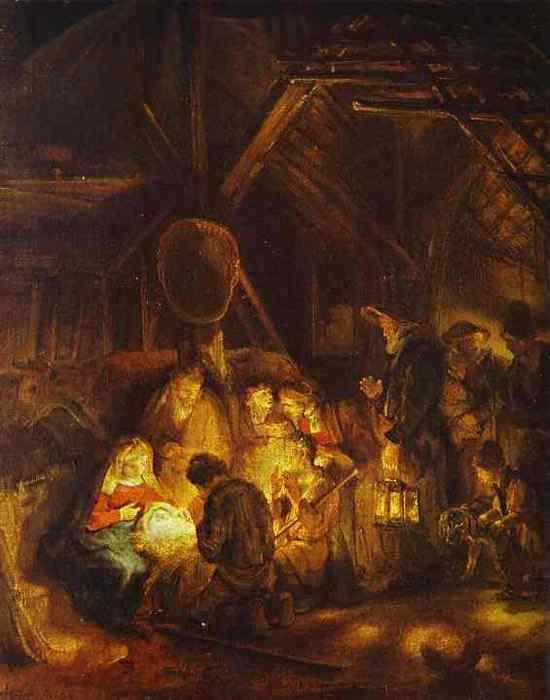 Harmensz van Rijn Rembrandt - A adoração dos pastores