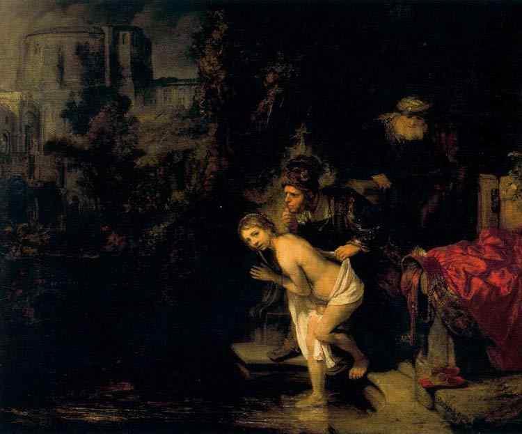 Harmensz van Rijn Rembrandt - Susana no banho