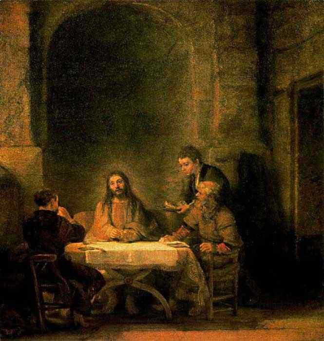 Harmensz van Rijn Rembrandt - Ceia em Emaús