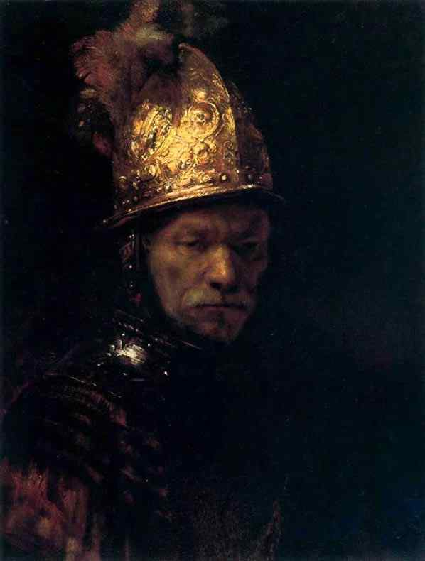 Harmensz van Rijn Rembrandt - Homem com elmo dourado
