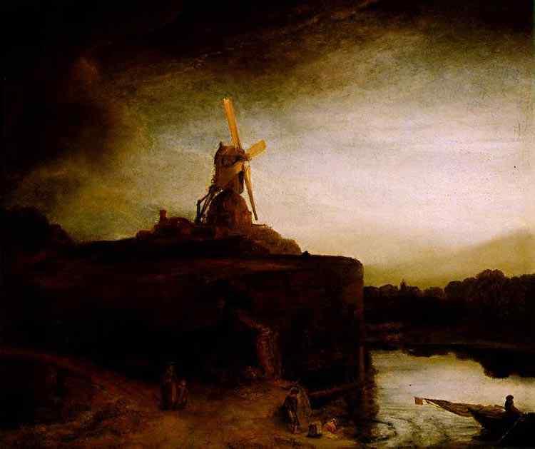 Harmensz van Rijn Rembrandt - O moinho