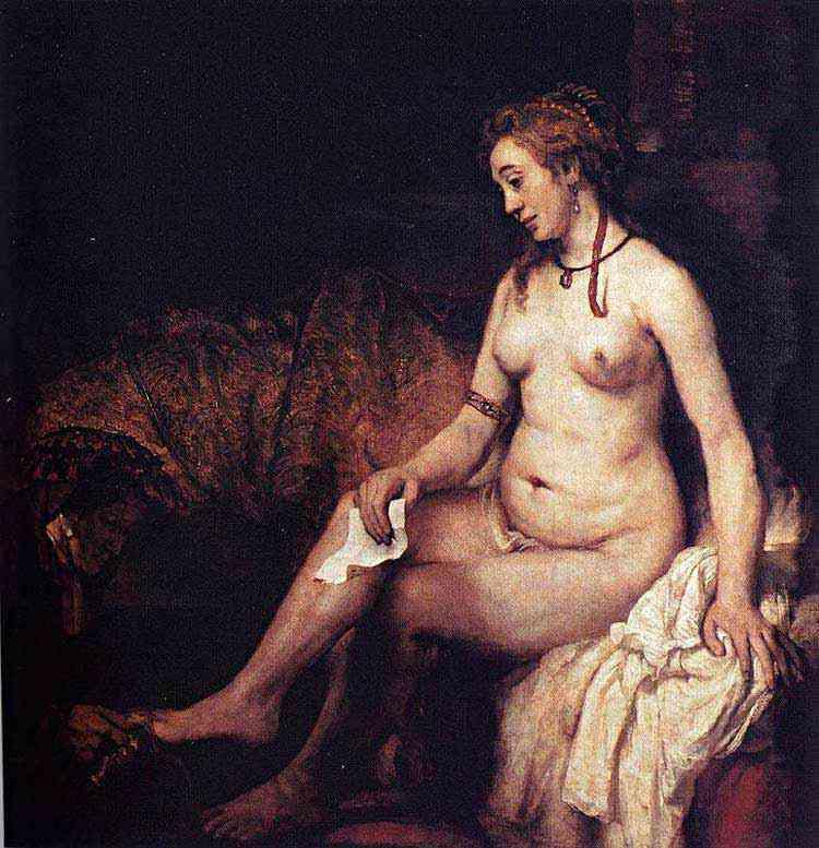 Harmensz van Rijn Rembrandt - Betsabá com a carta de Davi
