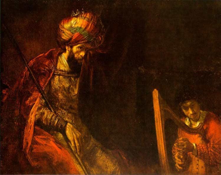 Harmensz van Rijn Rembrandt - Saul e Davi