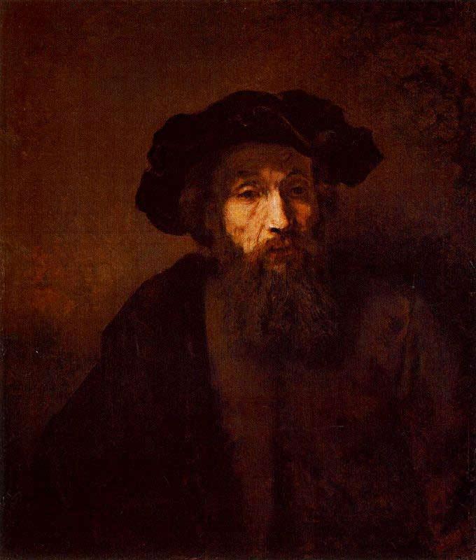 Harmensz van Rijn Rembrandt - Um homem barbudo com chapéu
