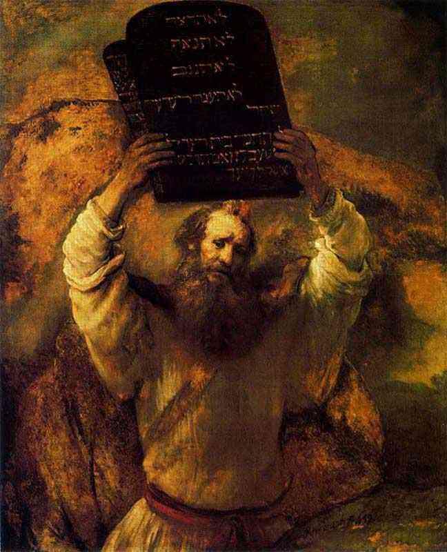 Harmensz van Rijn Rembrandt - Moisés quebrando as Tábuas da Lei
