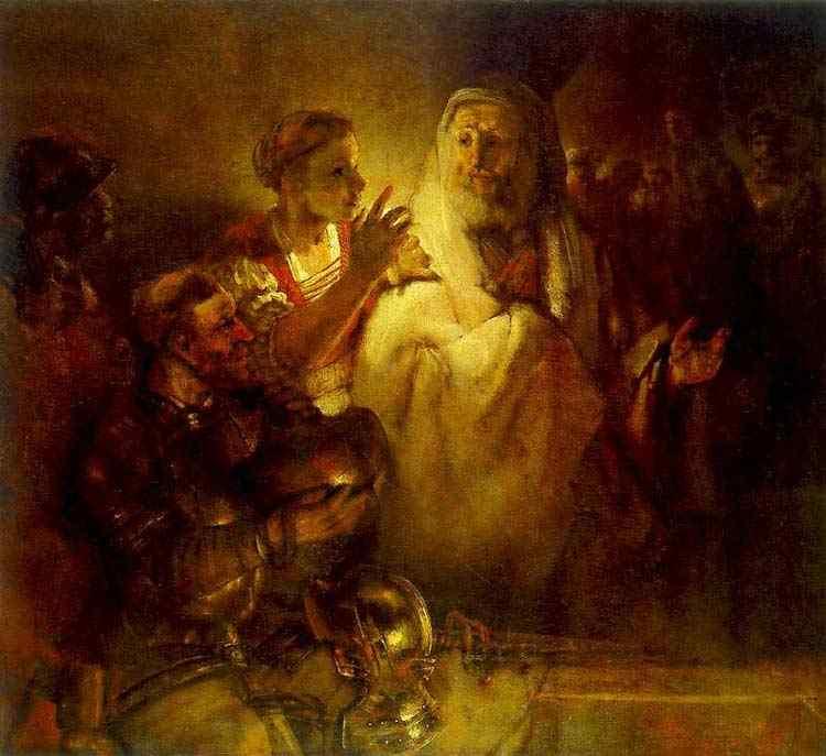 Harmensz van Rijn Rembrandt - Pedro negando Cristo