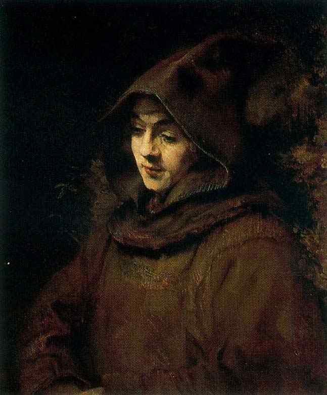 """Harmensz van Rijn Rembrandt - Titus em hábito dem onge (ou """"C"""")"""