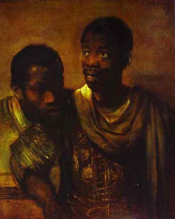 Harmensz van Rijn Rembrandt - Dois negros