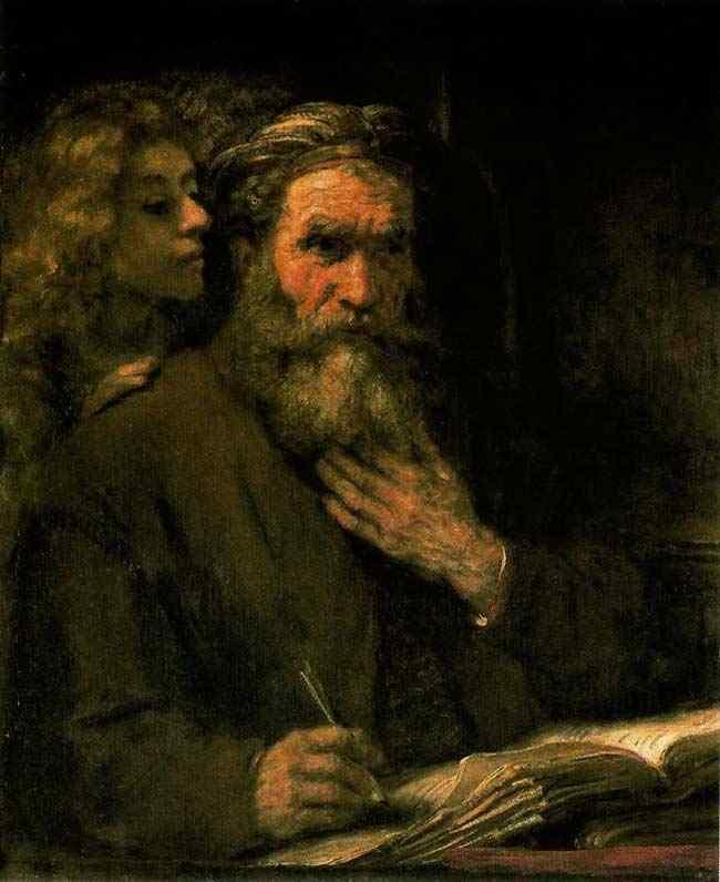 Harmensz van Rijn Rembrandt - São Mateus e o anjo