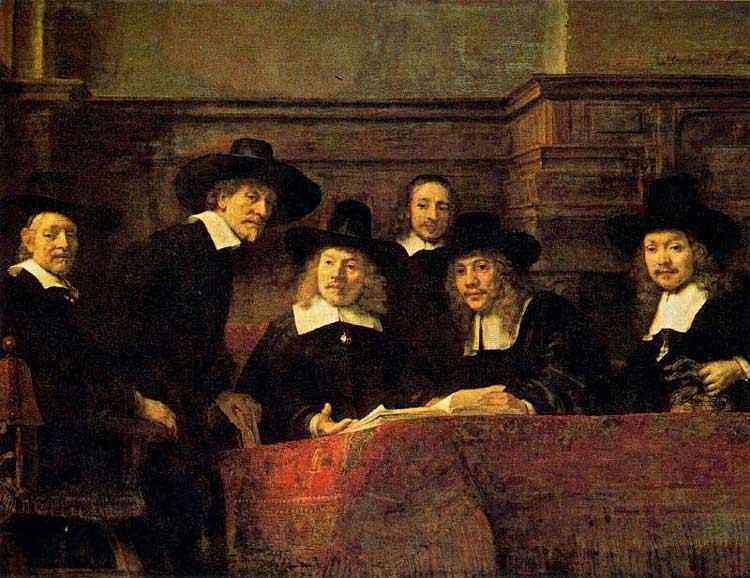 Harmensz van Rijn Rembrandt - O Sindicato dos Padeiros