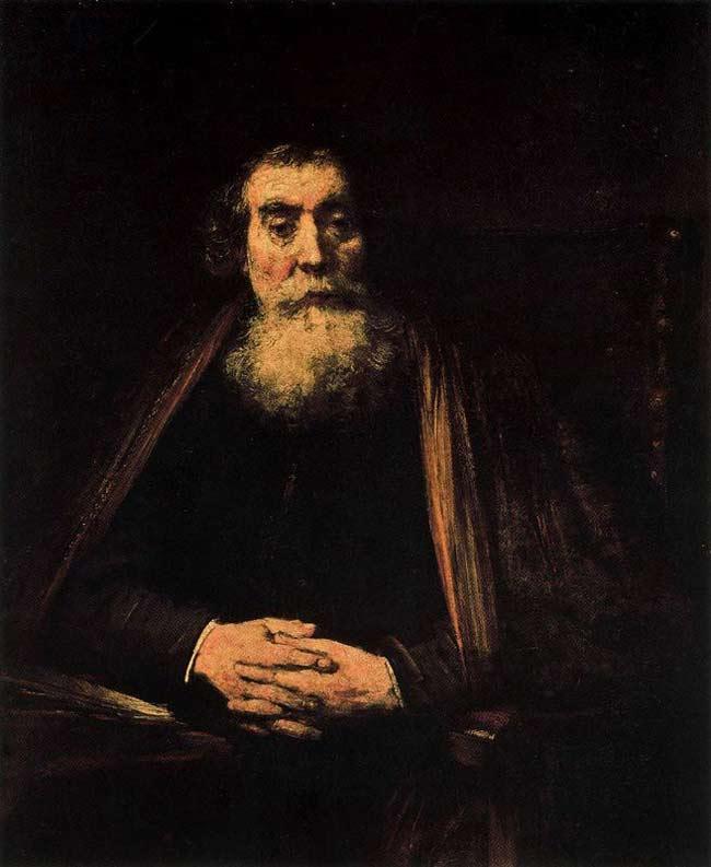 Harmensz van Rijn Rembrandt - Retrato de um ancião