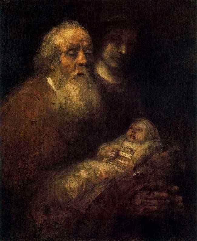 Harmensz van Rijn Rembrandt - Simão e o menino Deus