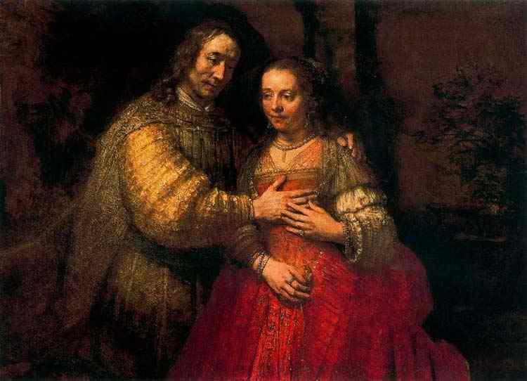 Harmensz van Rijn Rembrandt - A noiva judia