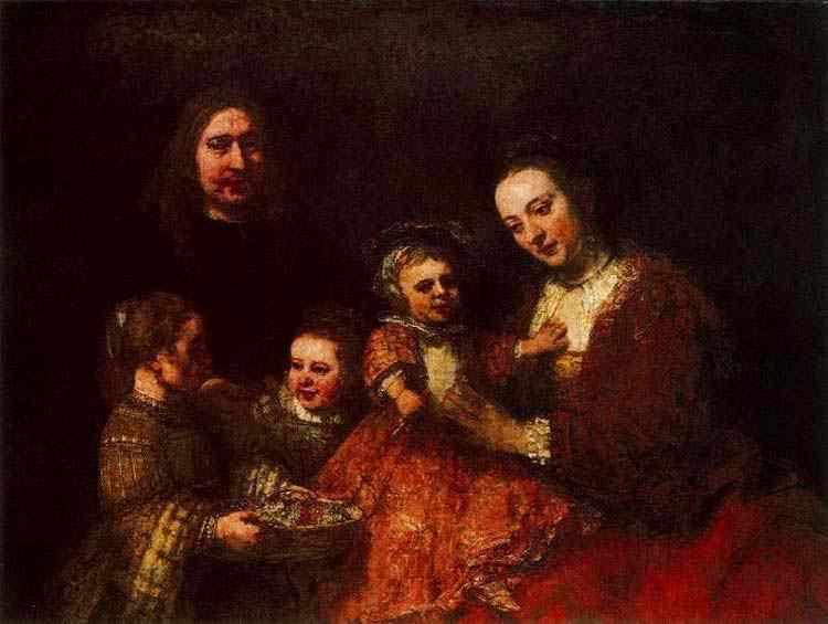 Harmensz van Rijn Rembrandt - Retrato de família