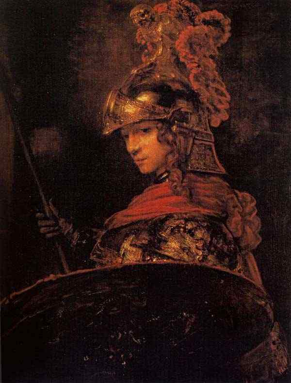 """Harmensz van Rijn Rembrandt - Alexandre Magno (ou """"Atenea"""")"""