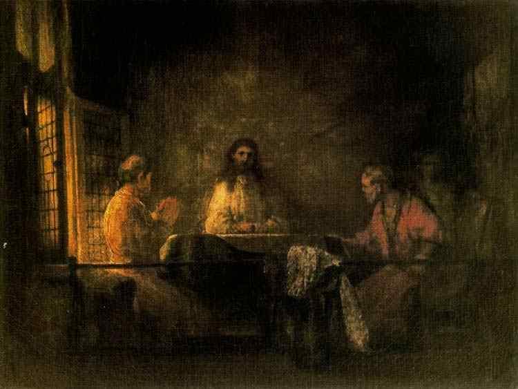 Harmensz van Rijn Rembrandt - Os pelegrinos em Emaús