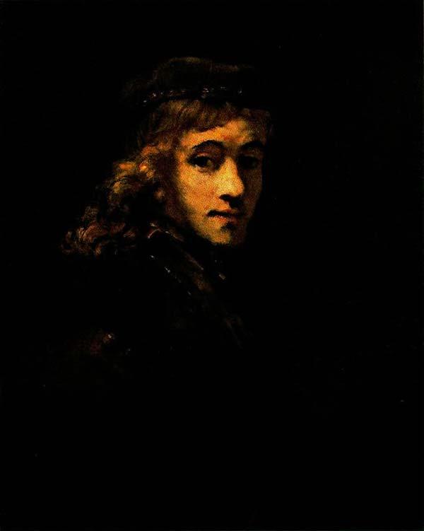 Harmensz van Rijn Rembrandt - Retrato de Titus, o filho do artista