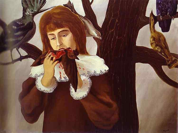 René Magritte - Menina comendo pássaro