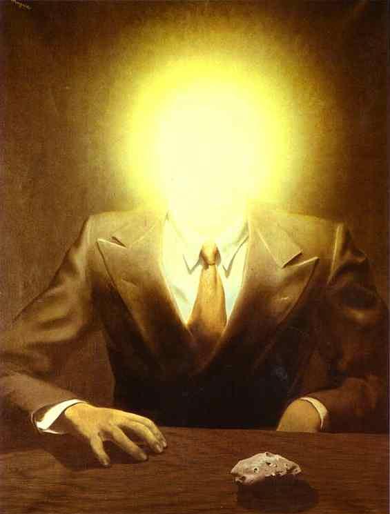 René Magritte - O princípio do prazer (retrato de Edward James)