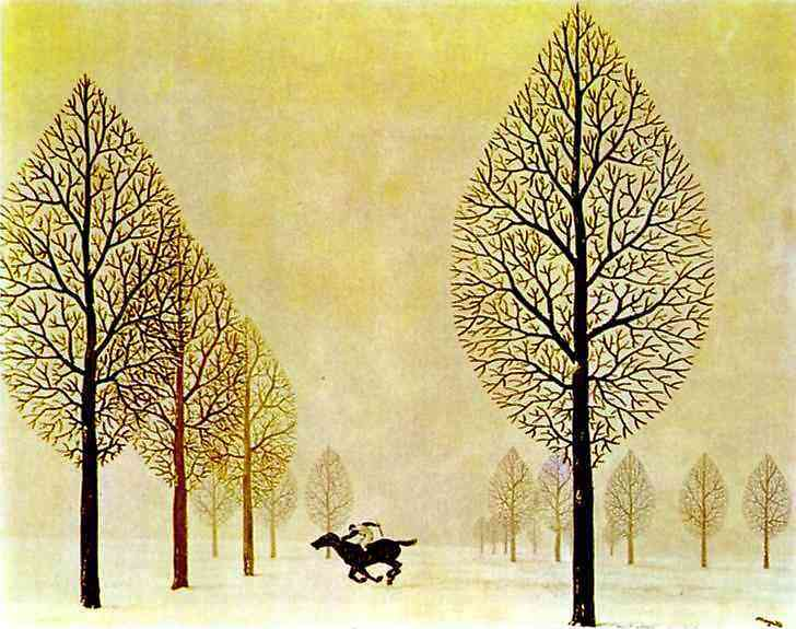 René Magritte - O Jockey perdido