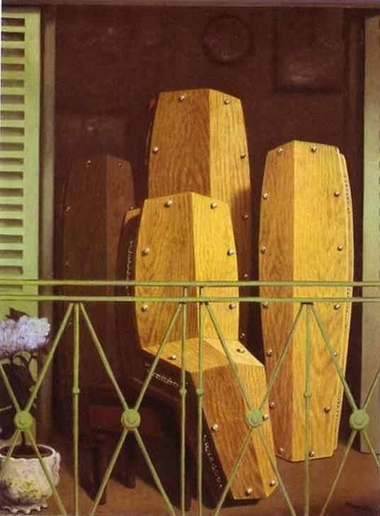 René Magritte - Balcão de Manet (perspectiva II)