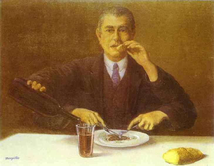 René Magritte - O mágico (auto-retrato com quatro braços)