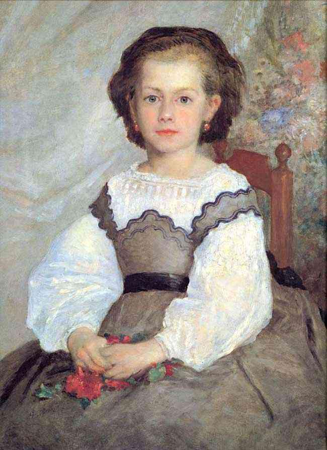 Pierre-Auguste Renoir - Mademoiselle Romaine Lascaux