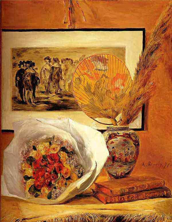 Pierre-Auguste Renoir - Natureza morta com buquê