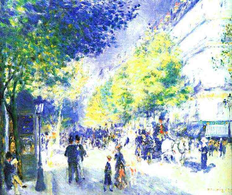 Pierre-Auguste Renoir - Os grandes Boulevards