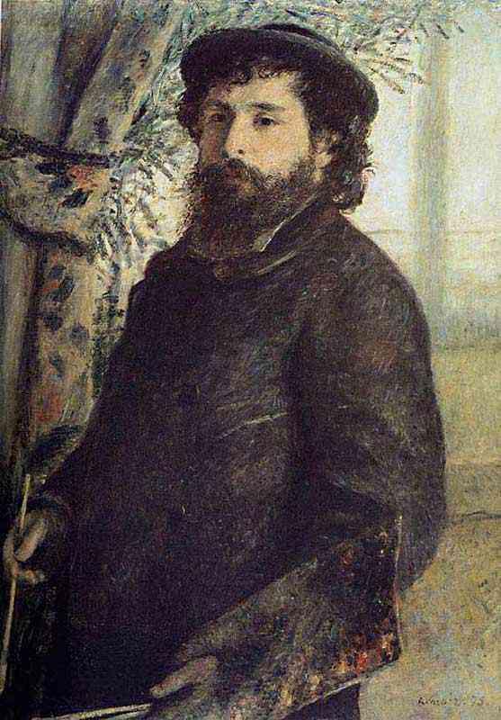 Pierre-Auguste Renoir - Retrato de Claude Monet