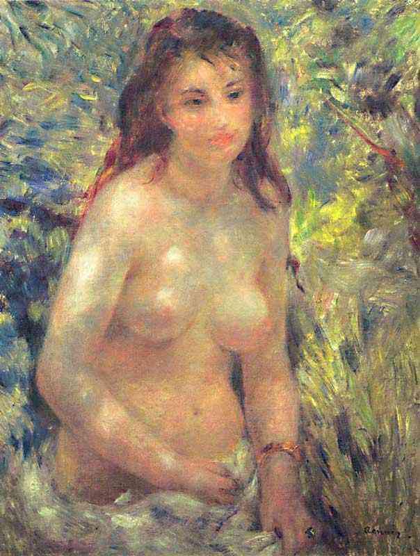 Pierre-Auguste Renoir - Estudo - Torso, efeito na luz solar