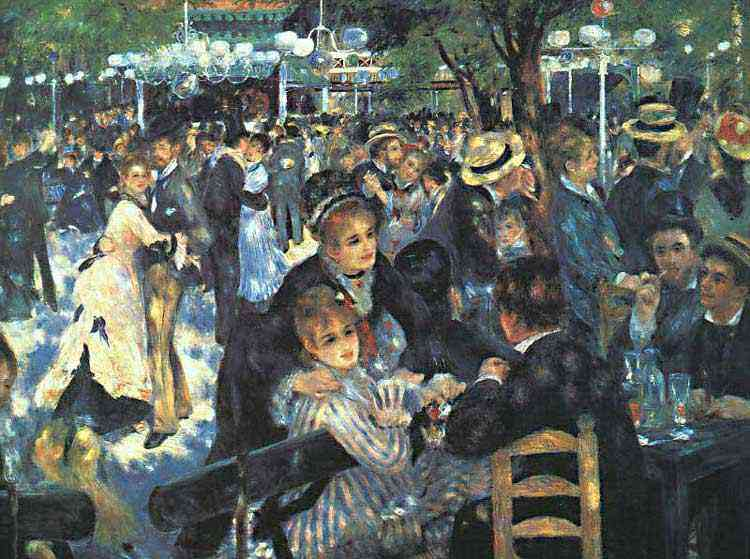 Pierre-Auguste Renoir - O baile no Moulin de la Galette