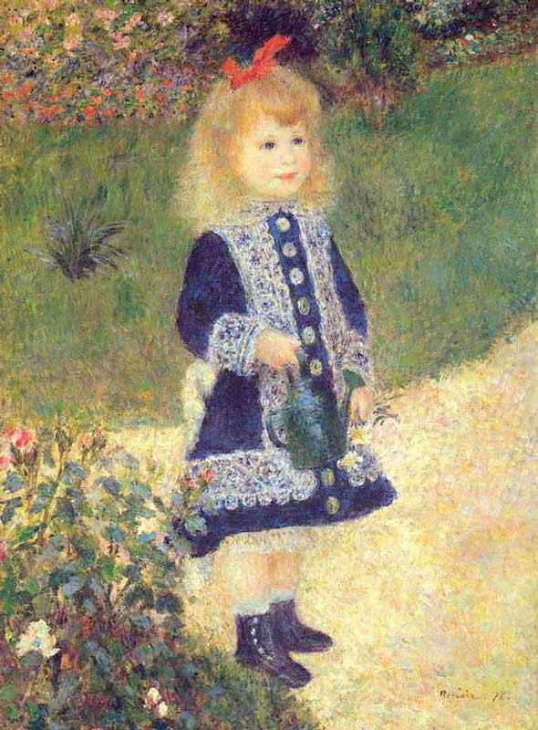 Pierre-Auguste Renoir - Uma menina com um regador