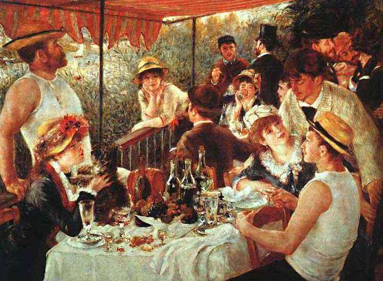 Pierre-Auguste Renoir - Almoço no barco