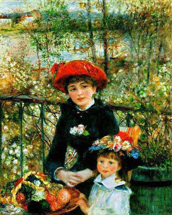Pierre-Auguste Renoir - Duas irmãs no terraço
