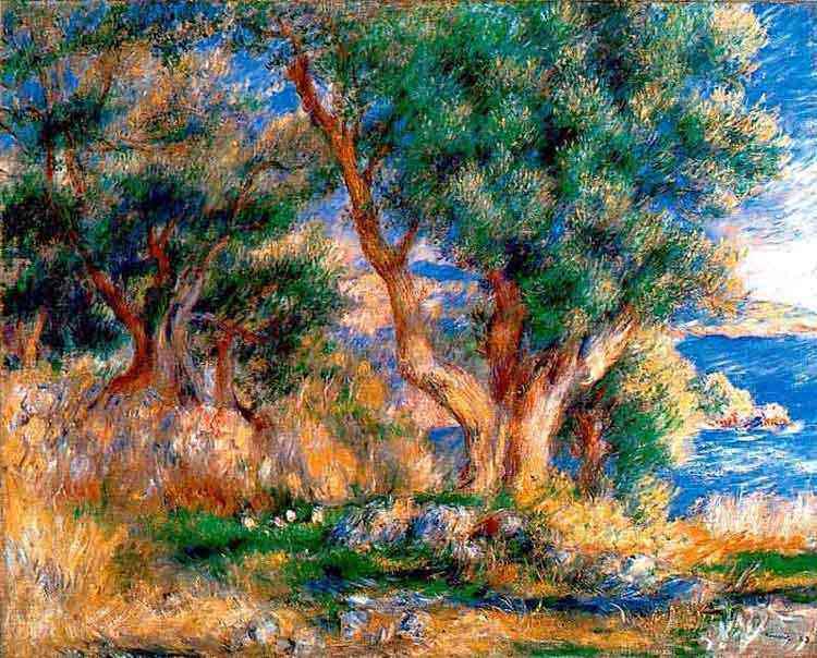 Pierre-Auguste Renoir - Paisagem perto de Menton