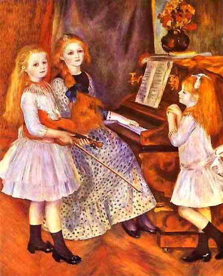 Pierre-Auguste Renoir - As filhas de Catulle Mendés