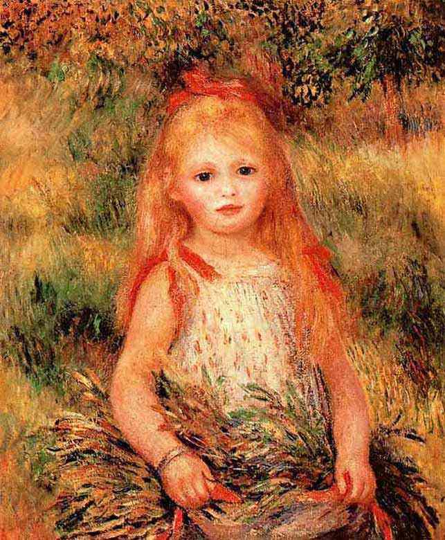 Pierre-Auguste Renoir - Menina com flores