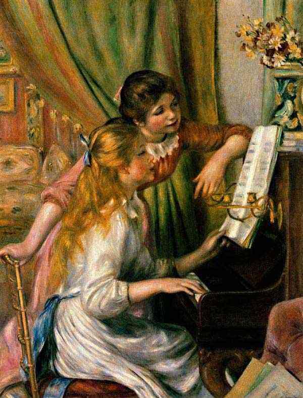 Pierre-Auguste Renoir - Duas meninas no piano